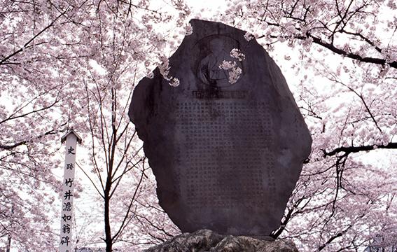 萬平公園的舊櫻堤紀念碑