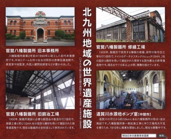八幡製鐵所主要分為四個部份